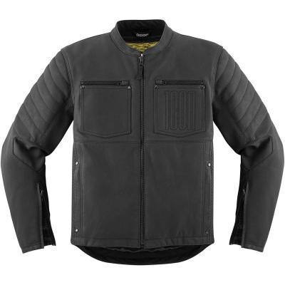 Blouson cuir Icon 1000 Axys noir