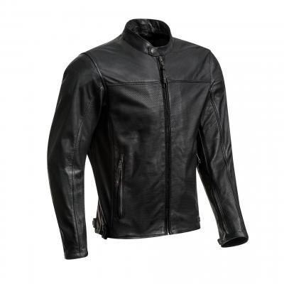Blouson cuir Ixon Crank Air noir