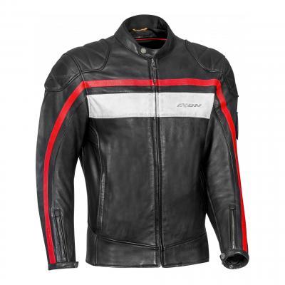 Blouson cuir Ixon Pioneer noir/blanc/rouge