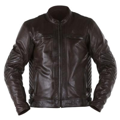 Blouson cuir Overlap BARRY marron