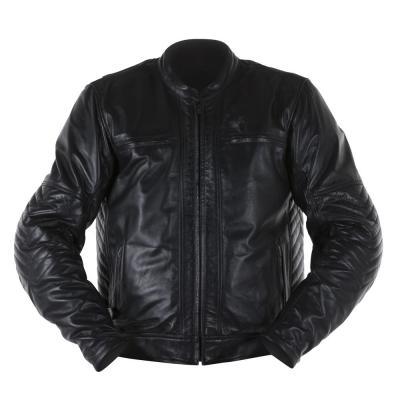 Blouson cuir Overlap BARRY noir