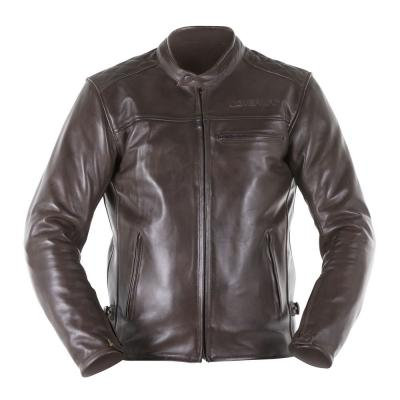 Blouson cuir Overlap RAINEY marron
