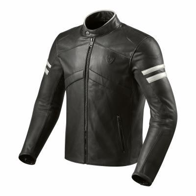 Blouson cuir Rev'it Prometheus noir/blanc