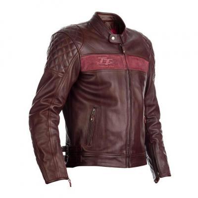 Blouson cuir RST Brandish rouge