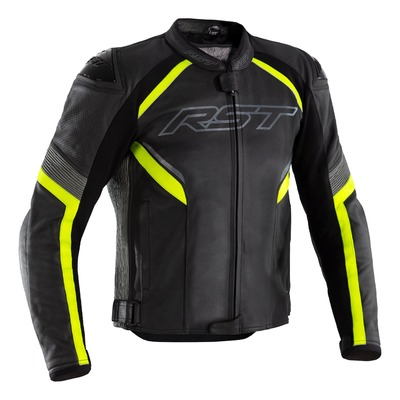 Blouson cuir RST Sabre Airbag noir/jaune fuo