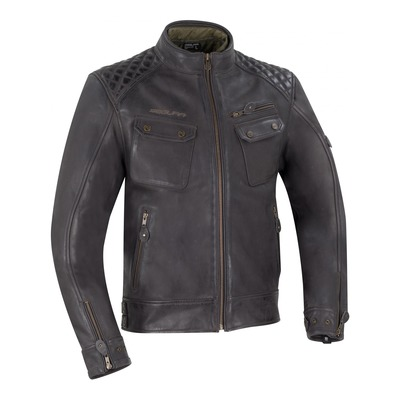 Blouson cuir Segura Barrington marron