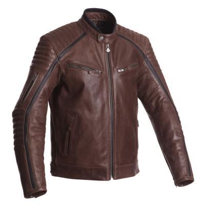 Blouson cuir Segura HORNER marron/noir
