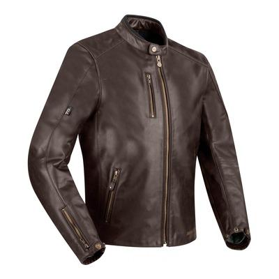 Blouson cuir Segura Laxey marron