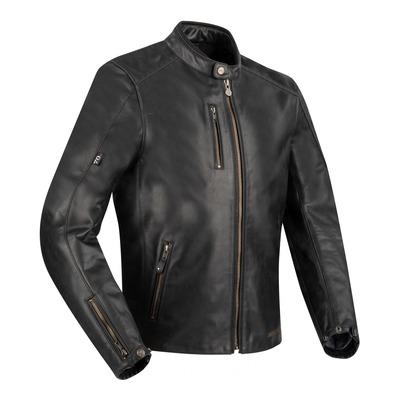 Blouson cuir Segura Laxey noir