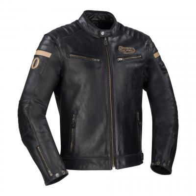 Blouson cuir Segura Mortymer noir