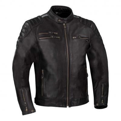 Blouson cuir Segura Ventura noir/gris
