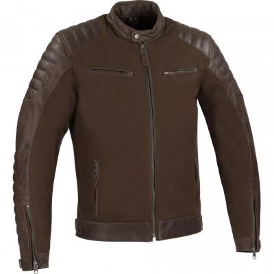 Blouson cuir/textile Bering Creedo marron