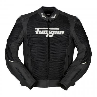 Blouson cuir/textile Furygan Speed Mesh Evo noir/blanc