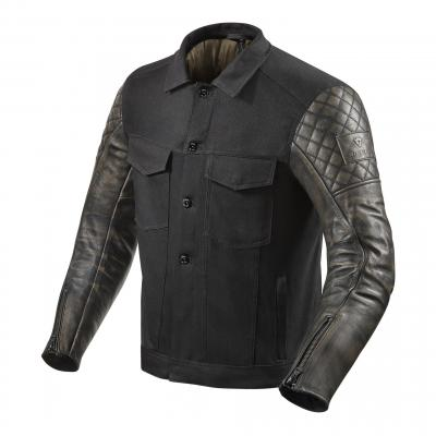 Blouson cuir/textile Rev'it Crossroads noir