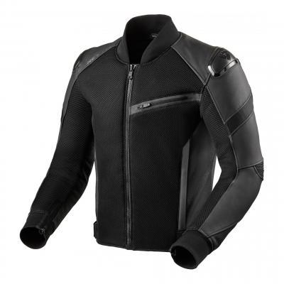 Blouson cuir/textile Target Air noir