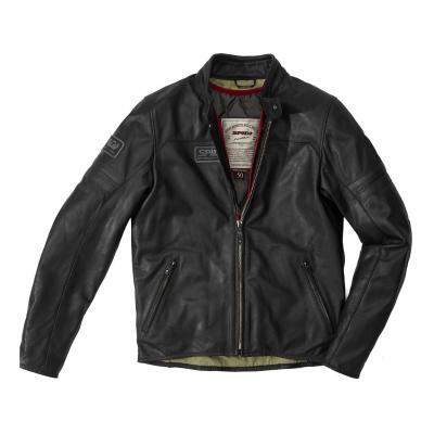 Blouson cuir Vintage noir