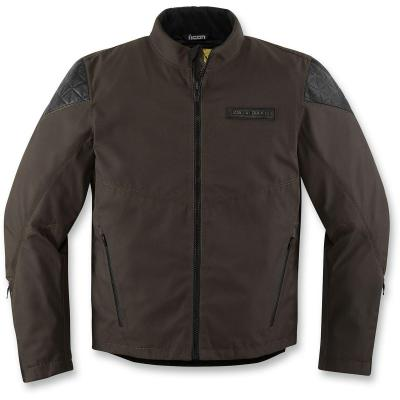 Blouson moto Icon 1000 Squalborn marron