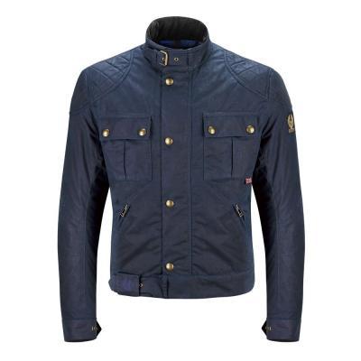 Blouson textile Belstaff BROOKLANDS bleu marine