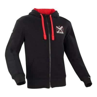 Blouson textile Bering Hoodiz serie limitée noir/rouge