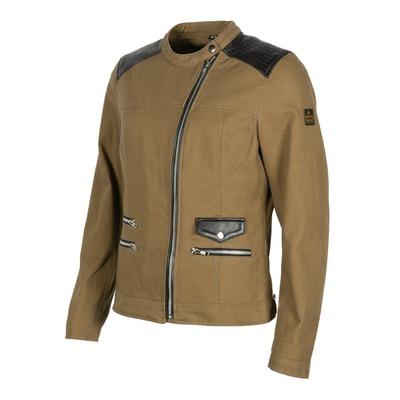 Blouson textile/cuir Helstons Cher kraft/marron/noir