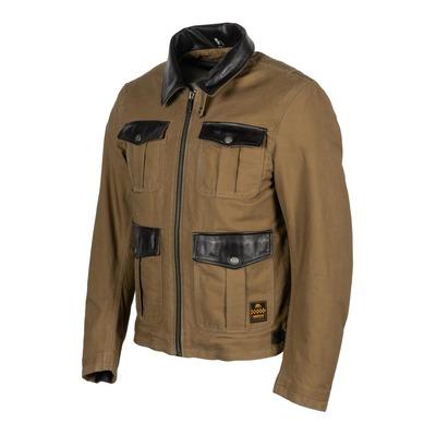 Blouson textile/cuir Helstons Joey kraft/marron
