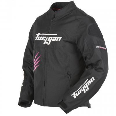 Blouson textile femme Furygan Rock Lady noir/rose