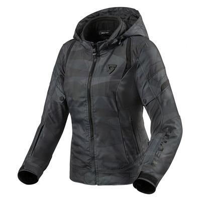 Blouson textile femme Rev'it Flare 2 camouflage noir/gris
