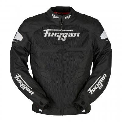 Blouson textile Furygan Atom Vented noir/blanc