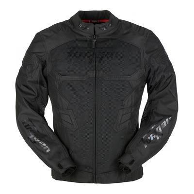 Blouson textile Furygan Atom vented noir/noir