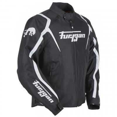 Blouson textile Furygan Irus noir/blanc