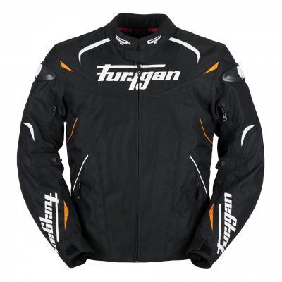 Blouson textile Furygan Narval noir/blanc/orange fluo