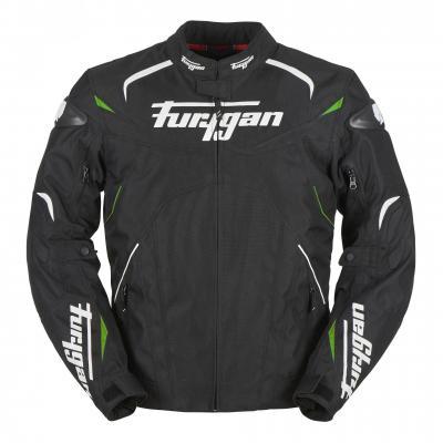 Blouson textile Furygan Narval noir/blanc/vert