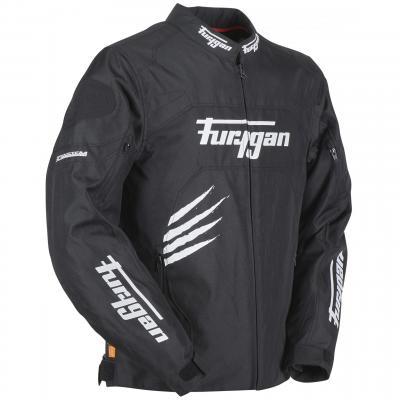 Blouson textile Furygan Rock noir/blanc