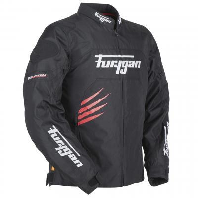 Blouson textile Furygan Rock noir/rouge