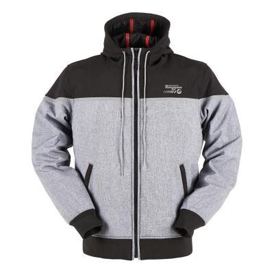 Blouson textile Furygan Sektor noir/gris chiné (compatible airbag Furygan)