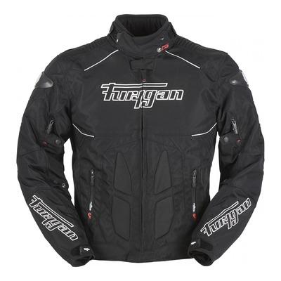 Blouson textile Furygan Titanium noir/blanc (compatible airbag Furygan)