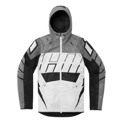 Blouson textile Icon Airform Retro gris/blanc