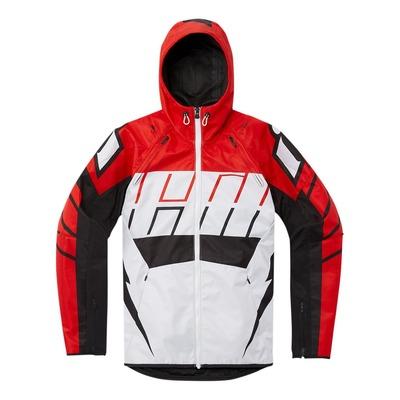 Blouson textile Icon Airform Retro rouge/blanc