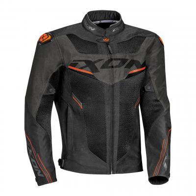 Blouson textile Ixon Draco noir/anthracite/orange
