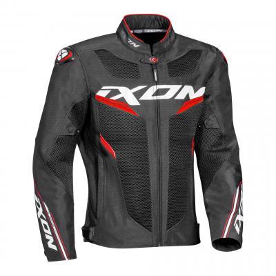 Blouson textile Ixon Draco noir/blanc/rouge