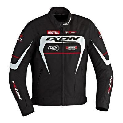 Blouson textile Ixon MATRIX noir/blanc/rouge