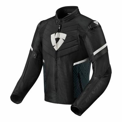 Blouson textile Rev'it Arc H2O noir/blanc