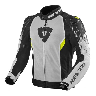Blouson textile Rev'it Quantum 2 Air blanc/noir