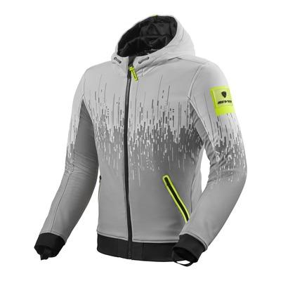 Blouson textile Rev'it Quantum 2 WB gris clair/jaune neon