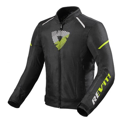 Blouson textile Rev'it Sprint H2O noir/jaune neon