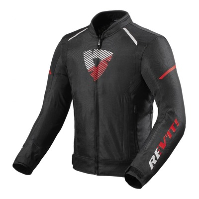 Blouson textile Rev'it Sprint H2O noir/rouge neon