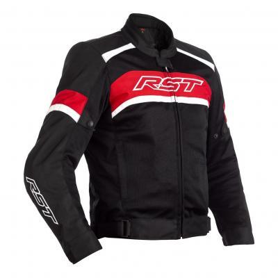 Blouson textile RST Pilot noir/rouge