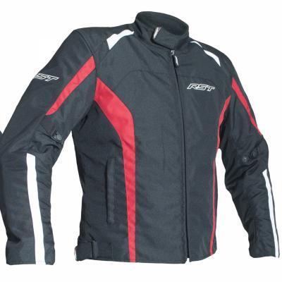 Blouson textile RST Rider noir/rouge