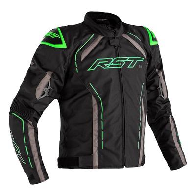 Blouson textile RST S-1 noir/gris/vert fluo