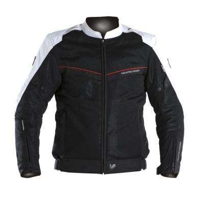 Blouson textile V'Quattro VE-21 noir/blanc/rouge